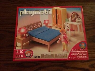 Playmobil 5331 Parents Bedroom for the Modern Dollhouse New in Box!