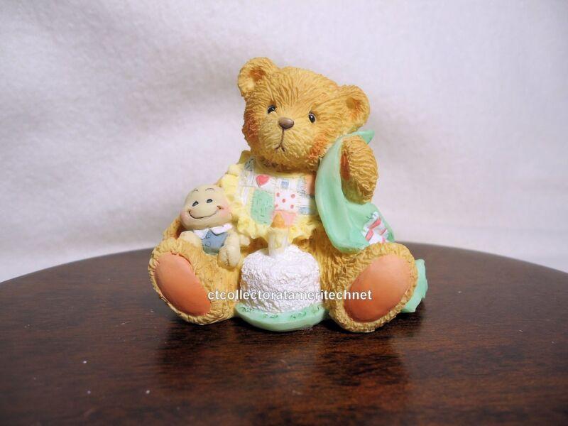 Cherished Teddies Birthday Bear Age 1  1993 NIB