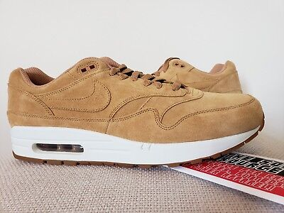 DS Nike Air Max 1 One Flax Sail Gum Medium Brown sz 11.5 Wheat 875844-203
