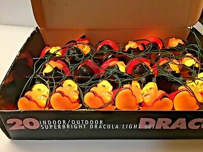Vintage Dracula Vampire Blow Mold String Lights 1995 Lugosi 20 Lights