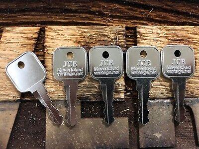 5 Ignition Keys Jcb Bomag Dynapac Terex Vibromax Nh Ford Moxy Volvo 7014550