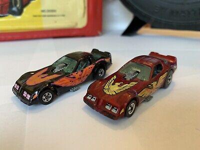 Hot Wheels Blackwall 1982 Firebird Funny Car (lot of 2) Cereal Black Maroon