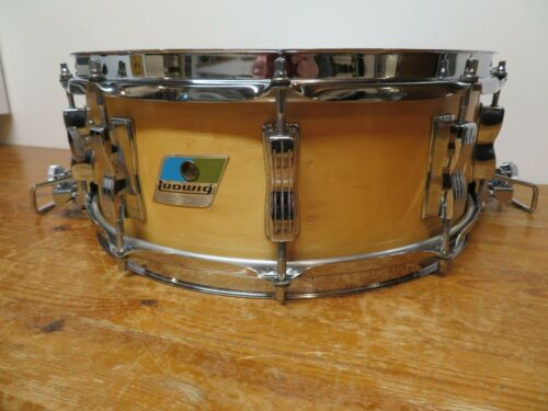 Vintage 1979 Ludwig Super-Sensitive Snare Drum Collectable Wood Shell Model RARE