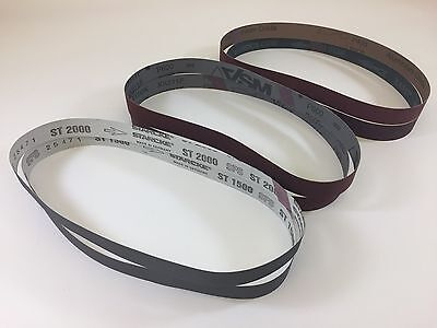 "1"" x 30"" Knife Makers High Grit Sanding Belts, 6 pc Assortment for Knife Making"