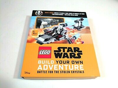 Lego Star Wars Battle For The Stolen Crystals Book + 2 Minifigures (New)