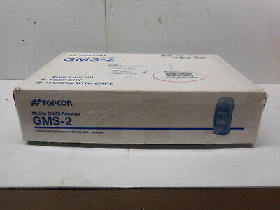 Topcon Gnss Receiver Model Gms-2 Data Collector Kit With 2 Batteries Charger