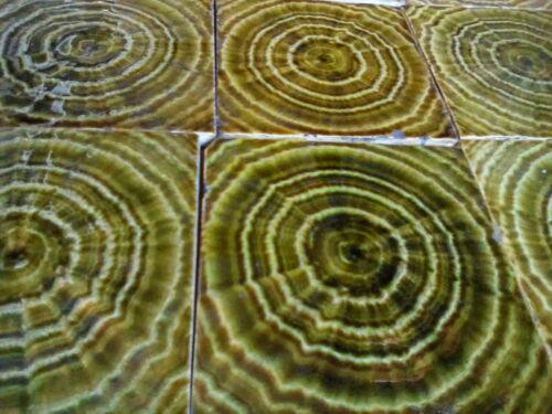 Complete Set Vintage Antique Fireplace Tile Tiles Mantle Lot USET Encaustic