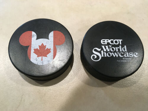 Rubena Canada Disney Epcot World Showcase Hockey Puck, Lot of 2