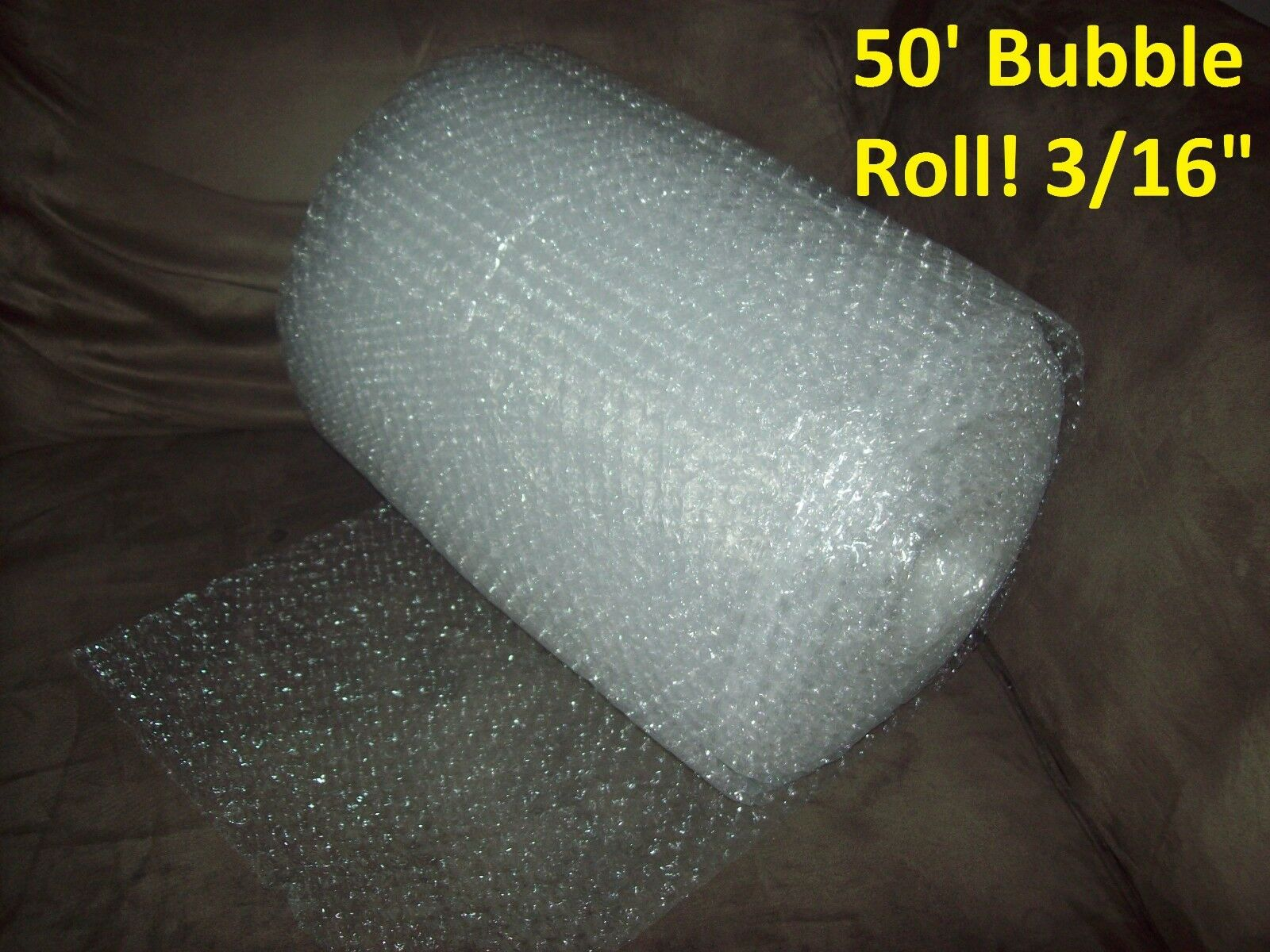 """50 Foot Bubble Wrap® Roll! 3/16"""" (Small) Bubbles! 12"""" Wide! Perforated Every 12"""""""