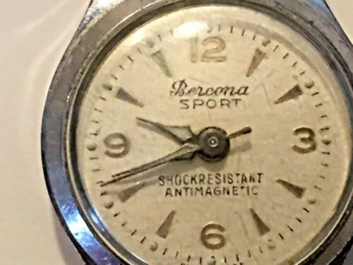 Vintage Swiss  Bercona Wrist Watch Works