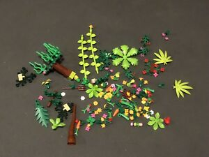 Lot of LEGO plants and trees