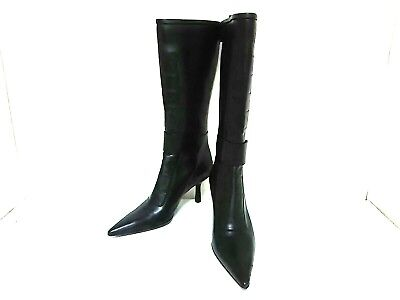 Auth GUCCI Black Leather Boot Women