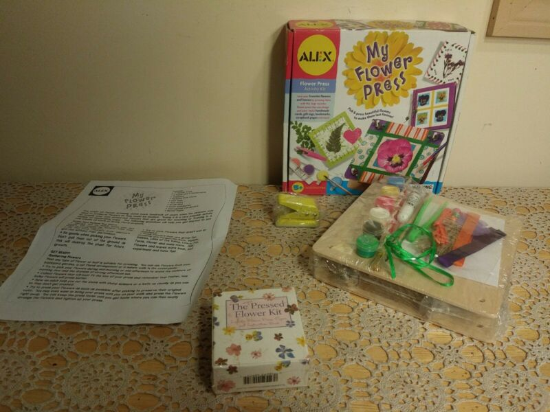 MY FLOWER PRESS CRAFT KIT KIDS activity Alex Brand & Small Running Press Kit -