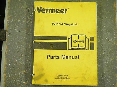 Vermeer D24x40a P2-14 Navigator Parts Manual Sn101-