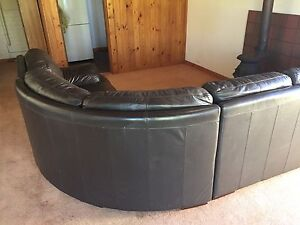 Modular leather couch lounge sofa in brown leather Millswood Unley Area Preview