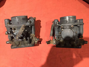 Set of Matching Porsche 356 Zenith Carbs and intakes