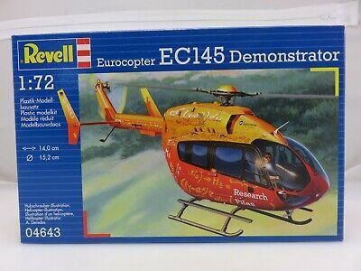 Revell EUROCOPTER EC145 DEMONSTRATOR Helicopter 1/72 Scale Model Kit 04643