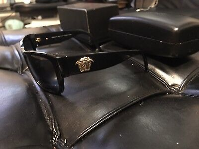 Versace Sunglasses With Gold Medusa's On Sides Pre-Owned In Very Good (Sunglasses Gold Sides)