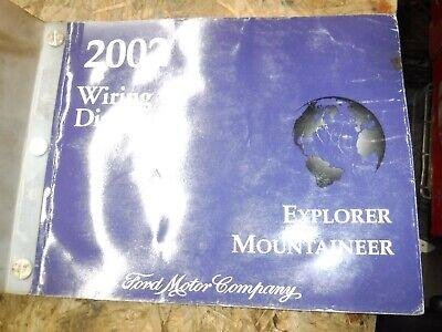 2002 FORD EXPLORER MERCURY MOUNTAINEER FACTORY WIRING DIAGRAMS MANUAL 2002 Mercury Mountaineer Manual