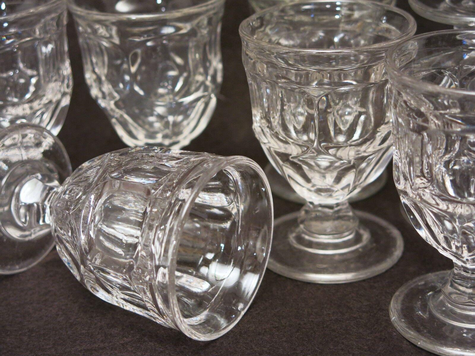 Lovely Set Of Antique ASHBURTON Pattern Flint Egg Cups  - $115.00