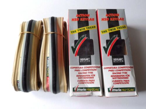 *NOS Vintage VITTORIA Action HSD 700 x 20C twin tread grey clincher tyres
