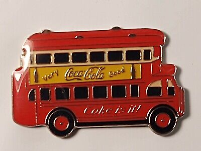 Coca-Cola Double Decker Bus Lapel Pin