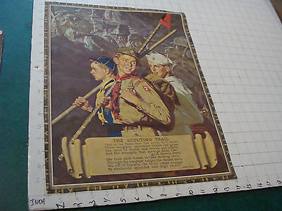 """VINTAGE Poster: The Scouting Trail by Norman Rockwell c. B&B, aprox 14 x 18"""""""