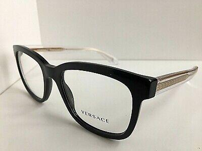 New Versace Mod. 3932  Black 54mm Men's Eyeglasses Frame Italy