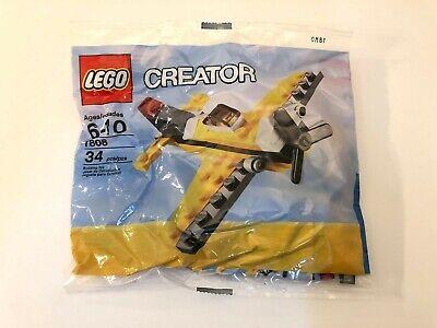 NEW LEGO CREATOR AIRPLANE MINI POLYBAG SET 7808 34 PIECES YELLOW JET PLANE PROP