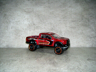 HOT WHEELS HW HOT TRUCKS '17 FORD F-150 RAPTOR METALLIC DARK RED