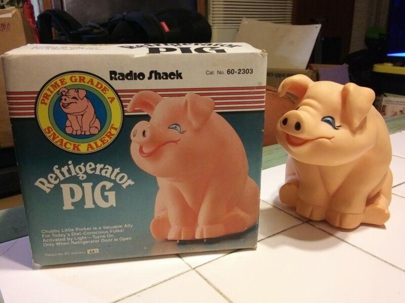 Vintage 1989 Radio Shack Refrigerator Pig