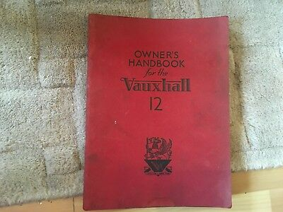 VAUXHALL  MODEL. 12   OWNERS HANDBOOK     1955  PLEASE READ