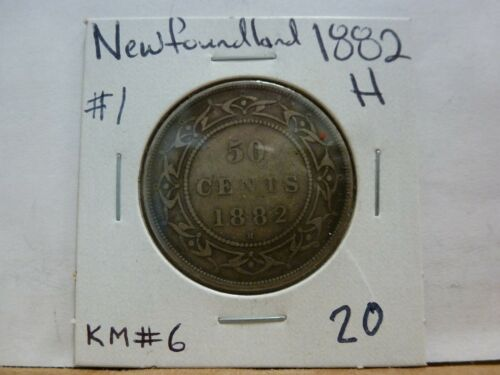 1882-H Newfoundland Fifty Cent KM #6--#1