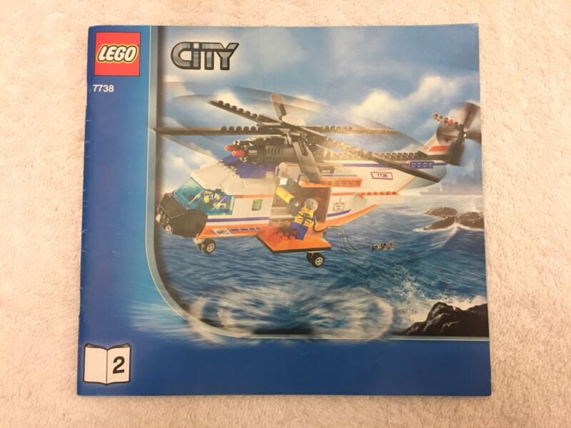 Lego City Coast Guard 7738 Helicopter And Life Raft Complete