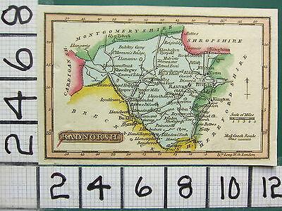c1815 HAND COLOURED MAP ~ RADNORSH