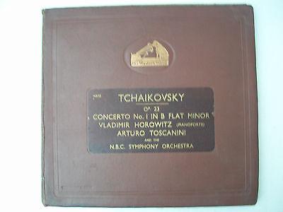 Tchaikovsky Piano Concerto No.1 Horowitz Toscanini DB 5988-5991  (4 Records) NM