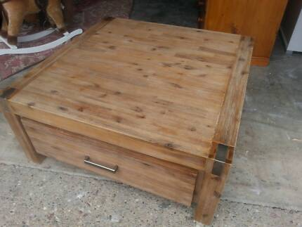 SILVERWOOD COFFEE TABLE WITH 2 DRAWERS - SUPER AMART - $449 G.C.