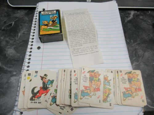 Vintage WDP Russell 1946 Three Little Pigs Vol 5 Card Game Complete Nice BIN!!