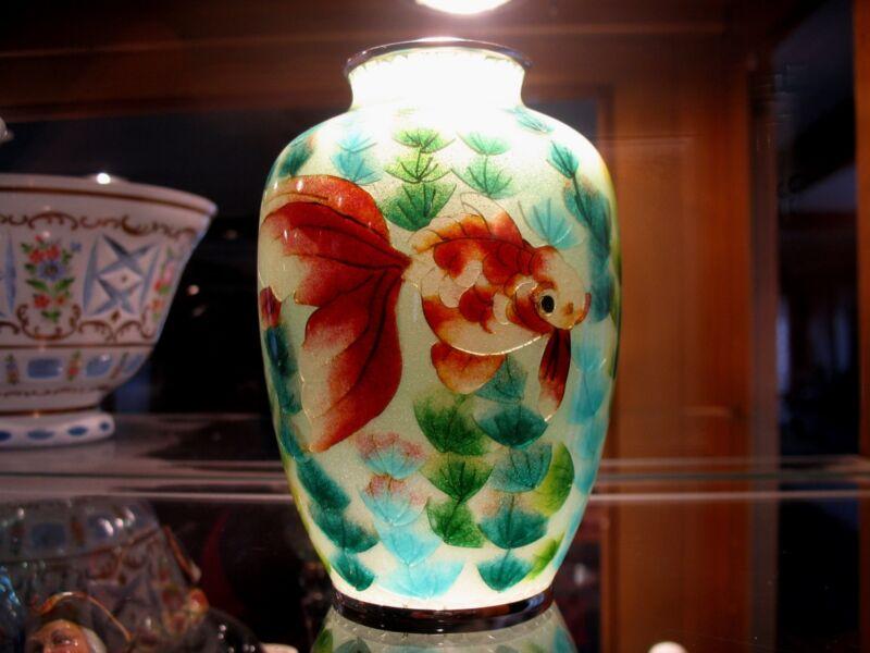 "Gorgeous Masterful Artistic Craftmanship of Imperial Japan ""Plique-a-Jour Vase"""