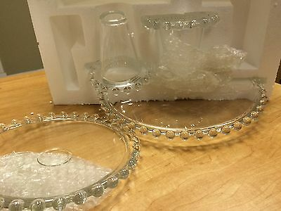 2-Piece Cake Plates w/ Footed Base and Beaded Edge H203418