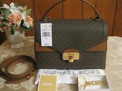 NWT Michael Kors Kinsley Leather Med Shoulder/Crossbody Bag MSRP $498 + Gift