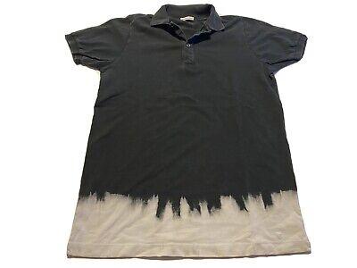 Tomas Maier Polo Shirt Black White Wash Size M