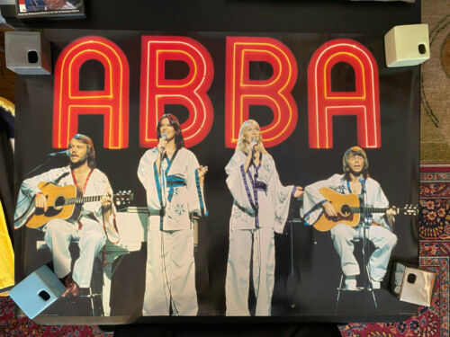 ABBA Midnight Special rolled poster Pyramid England UK kimonos Fernando SOS