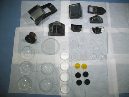 Lot of 35 Laser Lab Optics Lenses Prisms Mirrors Filters Horizon Eyepiece