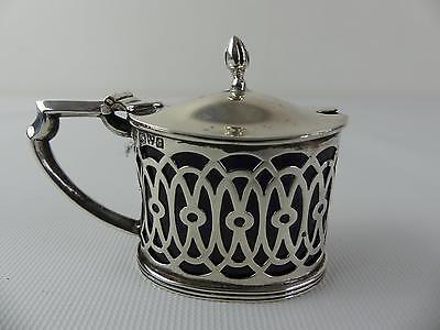 (Ref000) Antique Ornate Silver Mustard Pot Hallmarked Chester 1903