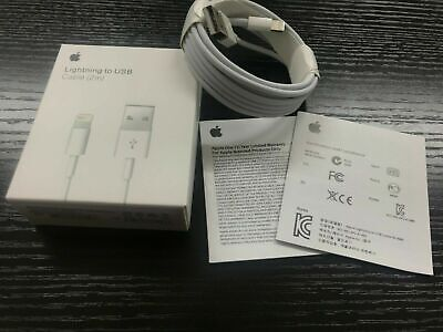Genuine 2m Apple Lightning USB charging cable Lead For  iPhone 5 6 7 8 x xs xr