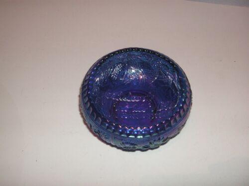 MARKED FENTON CARNIVAL GLASS BOWL, WOODLAND WORLDWIDE CARNIVAL GLASS ASSOCIATION