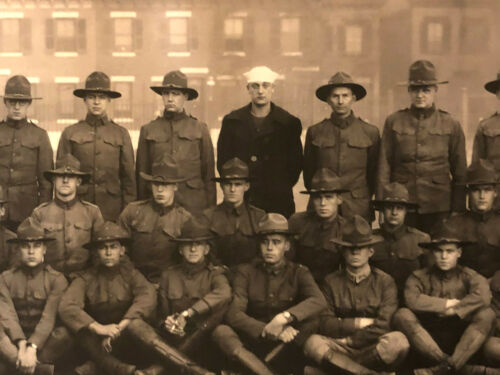 "VTG 1900s WWI Panoramic 49 x 8"" Photo Students Army Training Corps Sec. B"