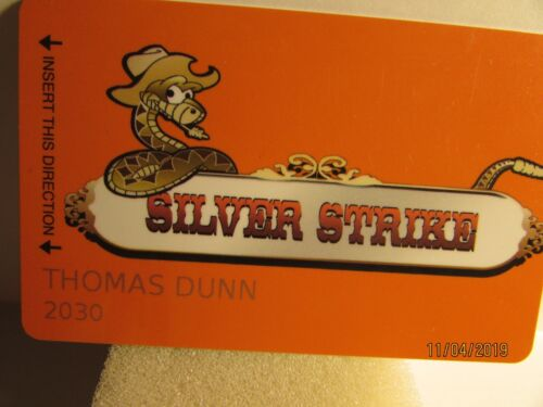 Silver Strike Casino-Jakes Players Club- Players Slot card- mint