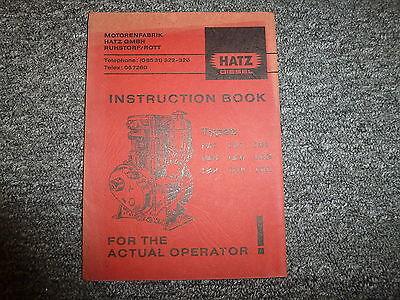 Hatz E80g E80fg E80fl E85g E85fg Diesel Air Cooled Engine Owner Operator Manual